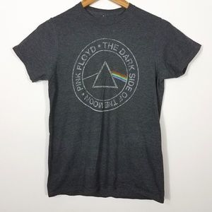 Pink Floyd Gray Dark Side of the Moon Graphic Tee
